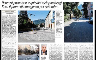 L'assessore di Futura alla mobilità Alberto Salizzoni e il suo piano della mobilità di emergenza per Trento