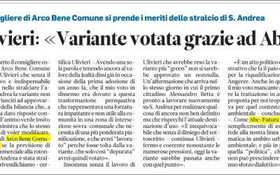 """Ulivieri (ABC- Futura Arco): """"Variante votata grazie ad ABC""""."""