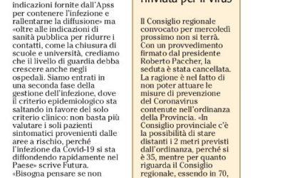Adige – Coronavirus