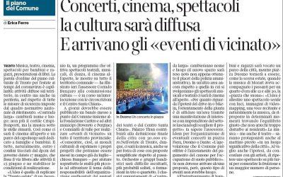 Intervento dell'assessore comunale di Trento Corrado Bungaro sul piano culturale per l'estate post-Covid-19 in città