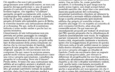 Lottizzazione da fermare: intervento di Marco Ianes (consigliere comunale di Futura)